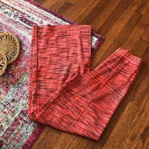 M by missoni orange and purple knit wide leg pants